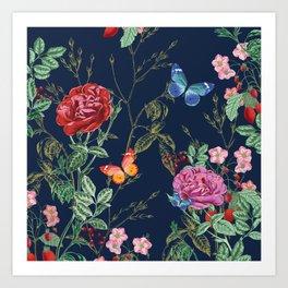 EXOTIC GARDEN Butterfly Art Print