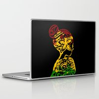 rasta Laptop & iPad Skins featuring Rasta Lady by Lonica Photography & Poly Designs