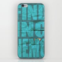 finding nemo iPhone & iPod Skins featuring Finding Nemo by Garrett McDonald