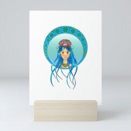 Ocean Lady - Art Nouveau style Mini Art Print