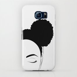 Afro-Puffs artwork, modern black and white designed by Gail Good iPhone Case
