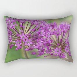 Purple Allium Twins Rectangular Pillow