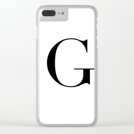 Letter G Clear iPhone Case
