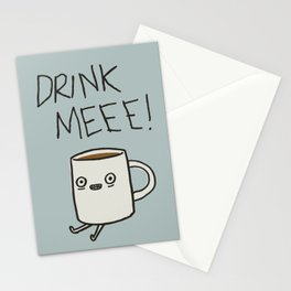 Drink Me Coffee Stationery Cards