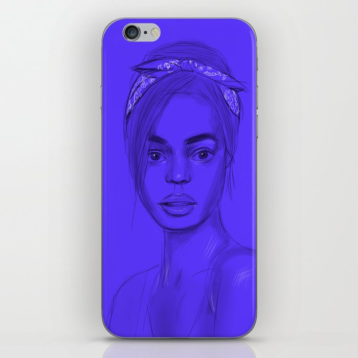 Joan in purple iPhone Skin
