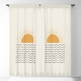 Sunrise Ocean -  Mid Century Modern Style Blackout Curtain