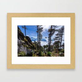 Volcano Tacana Descent Framed Art Print