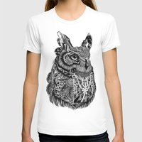 owl T-shirts featuring Owl by Feline Zegers