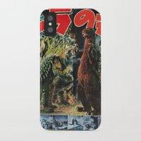 godzilla iPhone & iPod Cases featuring Godzilla by Golden Boy