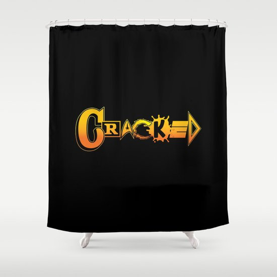 Elements of Cracked Shower Curtain