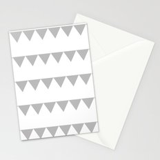 TRIANGLE BANNERS (Gray) Stationery Cards
