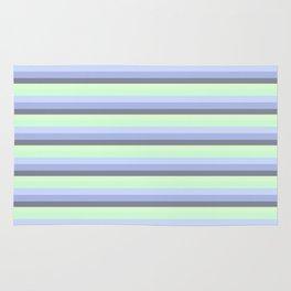 Pastel Blue Green Gray stripeS Rug