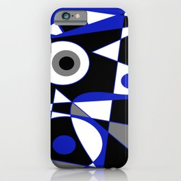 Abstract #505 Blue iPhone Case