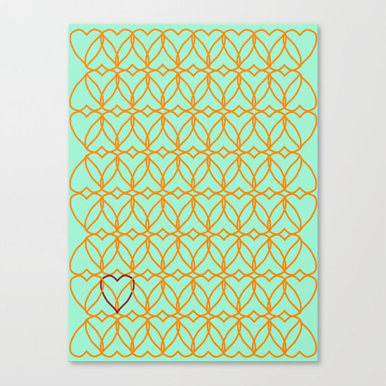 Intertwined Love Canvas Print