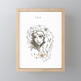 Leo Framed Mini Art Print