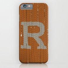 Winter clothes. Letter R. iPhone 6s Slim Case