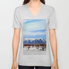 Sayan Mountains Unisex V-Neck