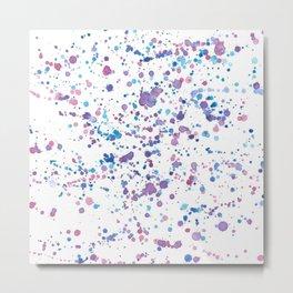 Colorful Watercolor Splotch Pattern Metal Print