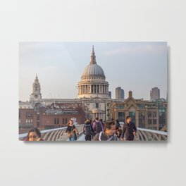 St. Paul's Cathedral at Dusk Metal Print