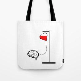 Brain and heart Tote Bag