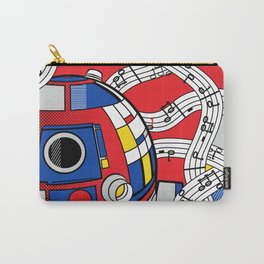 Luke Lichtenstein - Abstract Android Carry-All Pouch
