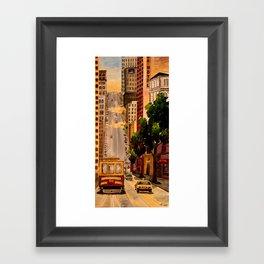 San Francisco Van Ness Cable Car Framed Art Print