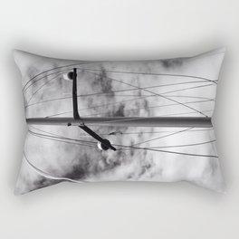 Looking Up into sailing rigging Rectangular Pillow