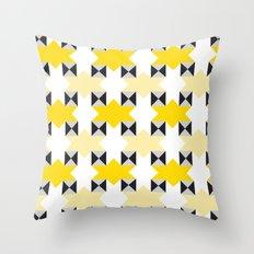 Yellow stars pattern Throw Pillow
