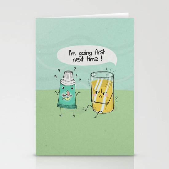 I'm going first Stationery Cards