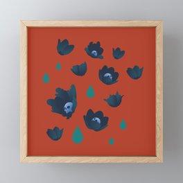 Winter Poppies Framed Mini Art Print