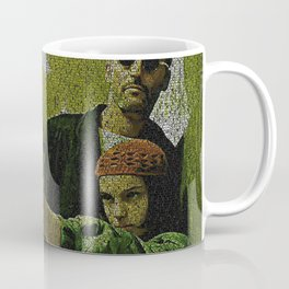Text Portrait of Leon and Mathilda with Full Script of the movie LEON Coffee Mug