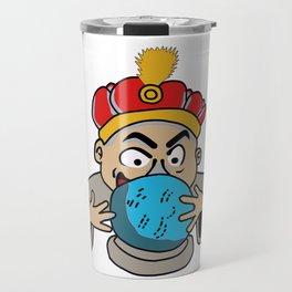 Magician looking at the future Travel Mug