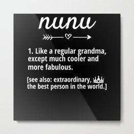 Nunu Grandmother Definition Nunu Grandma Metal Print