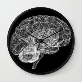 DELAUNAY BRAIN b/w Wall Clock