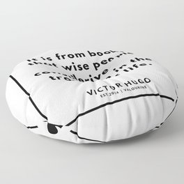 81  | Victor Hugo Quotes | 190830 Floor Pillow