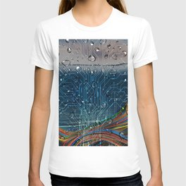 Ocean of Wires-Global Network T-shirt