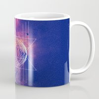 sacred geometry Mugs featuring Sacred Geometry by AC DESIGNS
