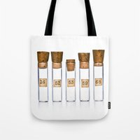 lab Tote Bags featuring Lab Vials by THEPALMER