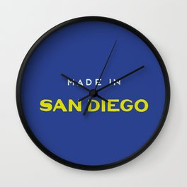Made in San Diego Wall Clock
