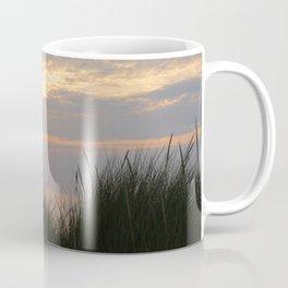 Sunset at Sea II – Coastal Grass and unes -The Netherlands Coffee Mug