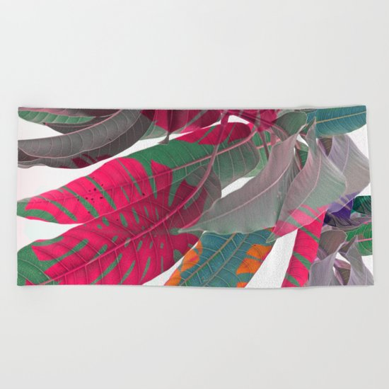Tropical abstract(5) Beach Towel