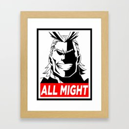 My Hero Academia All Might Framed Art Print