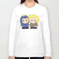 yaoi Long Sleeve T-shirts featuring Craig X Tweek by FrankenPup