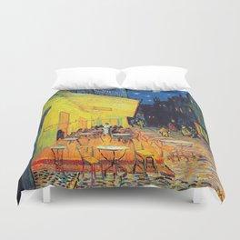 Vincent Van Gogh - Café Terrace at Night (new color editing) Duvet Cover