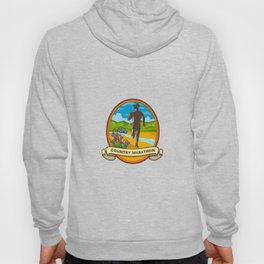 Country Marathon Run Oval Retro Hoody