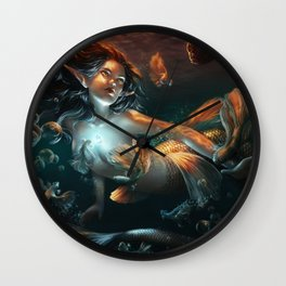Heart of a Mermaid Wall Clock
