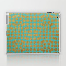 Gold Dots on Turquoise Laptop & iPad Skin