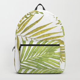 Palms on White Backpack