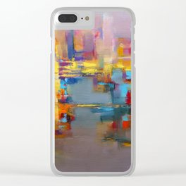 """Yellow city"" by Diana Grigoryeva Clear iPhone Case"