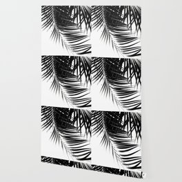 Palm Leaves Black & White Vibes #1 #tropical #decor #art #society6 Wallpaper
